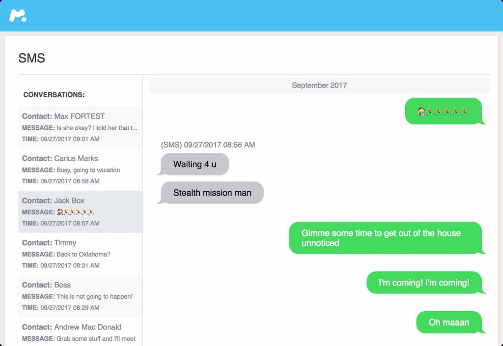la fonction de surveillance des discussions par messages texte